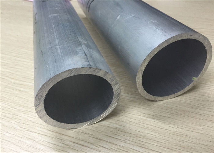 Polished Surface Extruded Aluminium Tube , 6063 T6 Temper Aluminum Round Tube