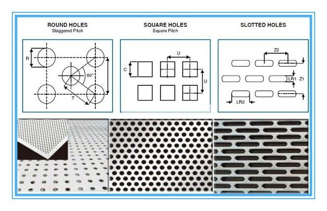 6061 Rectangular Holes Perforated Aluminum Sheet With 2mm Hole Diameter